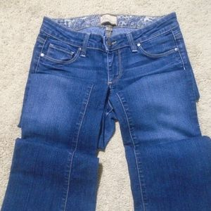 PAIGE 'Canyon Boot' Jeans 27/29 Medium Wash